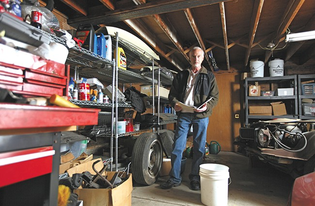 Gregg Sowder has struggled to get investigators on his case after his garage was burglarized in July. - YOUNG KWAK
