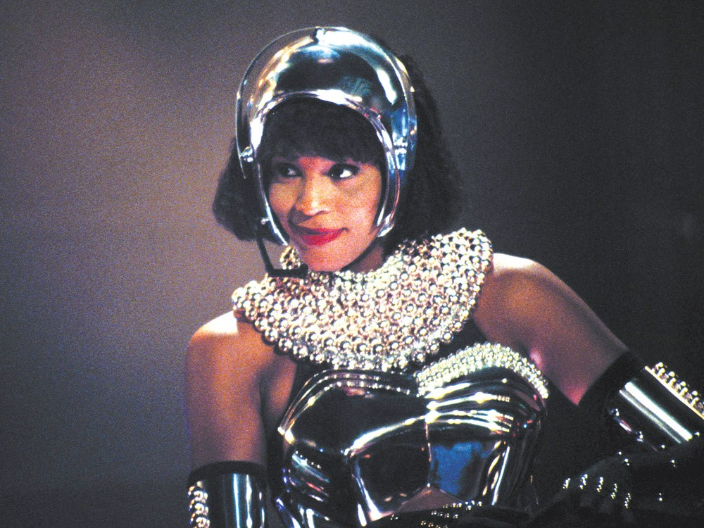 Houston, in a scene from The Bodyguard.