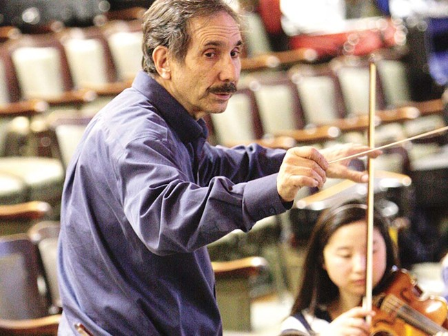 'I came for a night and stayed for 15 years.' Verne Windham at one of his final orchestra rehearsals. - YOUNG KWAK