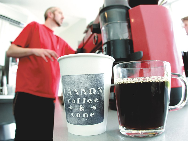 I n addition to fresh coffee, Cannon also serves up ice cream - JOE KONEK