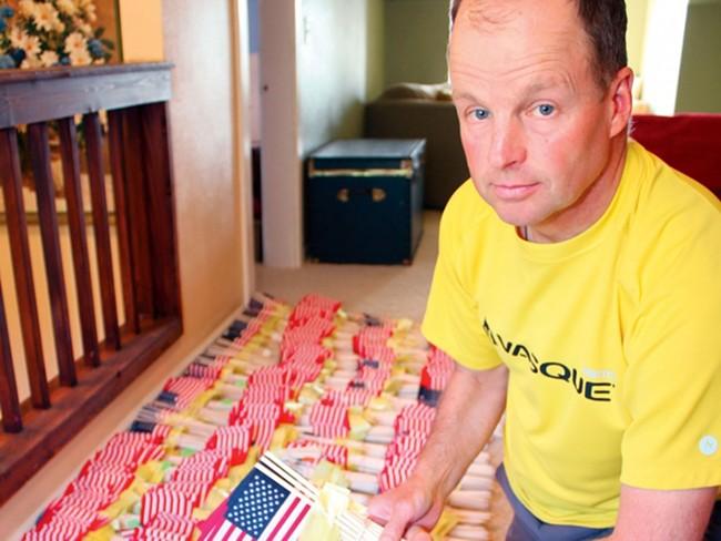 Idaho veteran Mike Ehredt before his coast-to-coast memorial journey