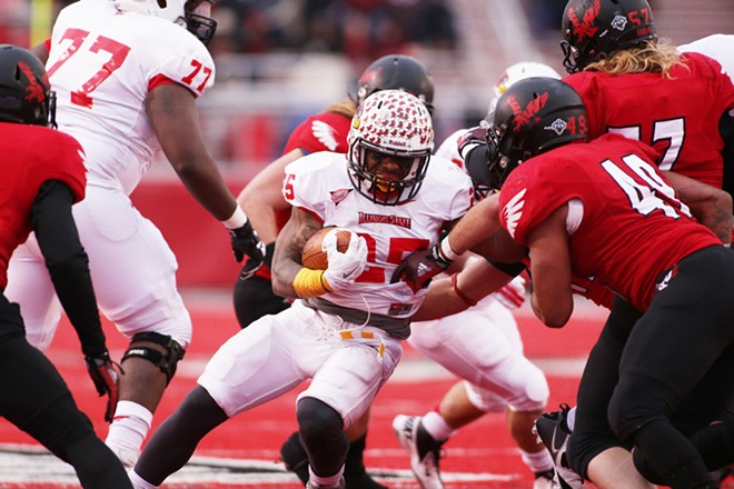 Illinois State running back Marshaun Coprich (25) runs against Eastern Washington during the second half. - YOUNG KWAK