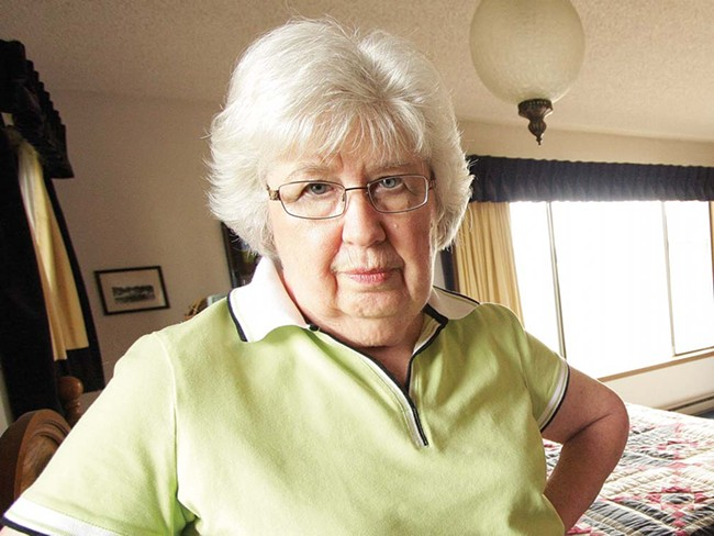 Imogene Creach standing in the bedroom where she heard her husband get shot and killed. - YOUNG KWAK