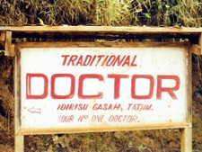 """In Cameroon, many have to rely on """"traditional"""" doctors, who are not trained in modern medicine."""