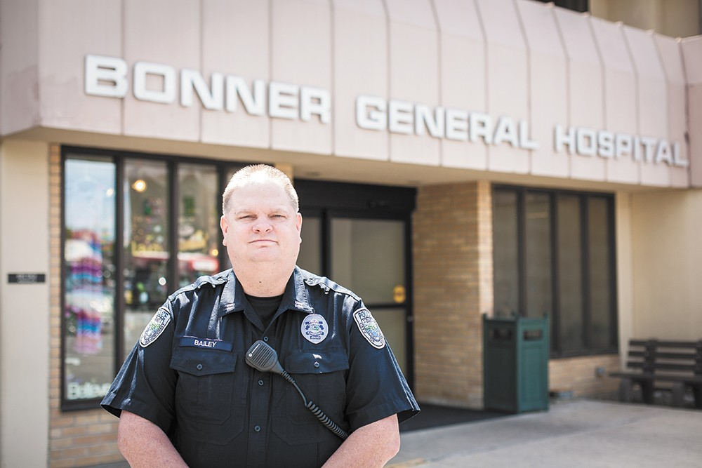 In Idaho, Sandpoint police officers, like Capt. Rick Bailey, often wait with patients in need of treatment. - JACOB JONES