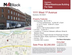 The NAI Black real estate listing for 1111 West 1st Avenue, formerly the site of BlueStar Digital Technologies
