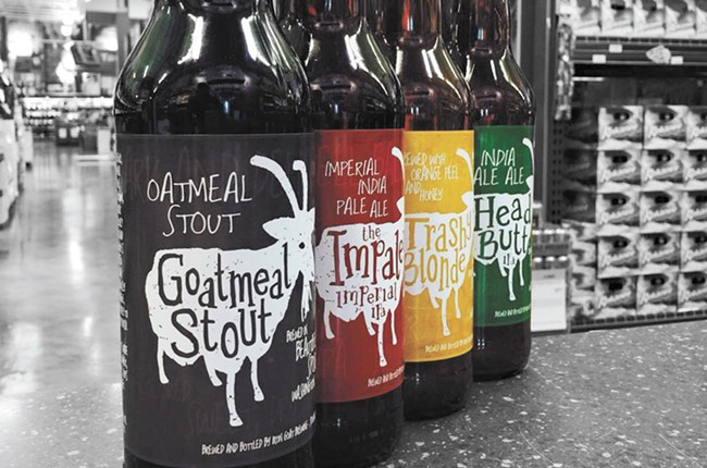 Iron Goat beers are now in bottles and available at most local grocers.