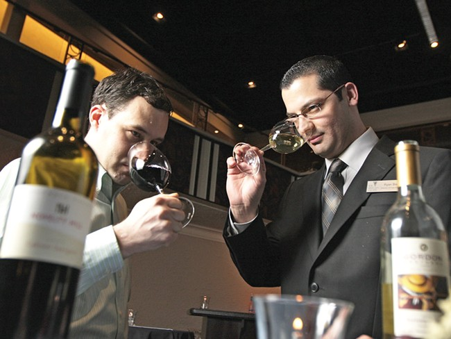 Jeremy Wood (left) and Ryan Biesen are Eastern Washington\'s only certified sommeliers. - YOUNG KWAK