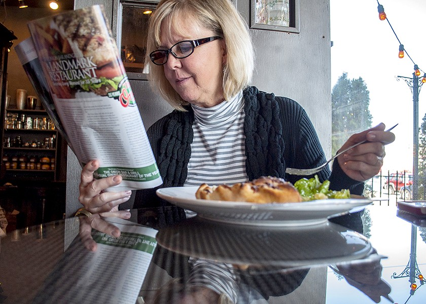 Jeri Schaffner, visiting from Coeur d'Alene, drove out of her way to enjoy a meal at Ferrante's. - SARAH WURTZ