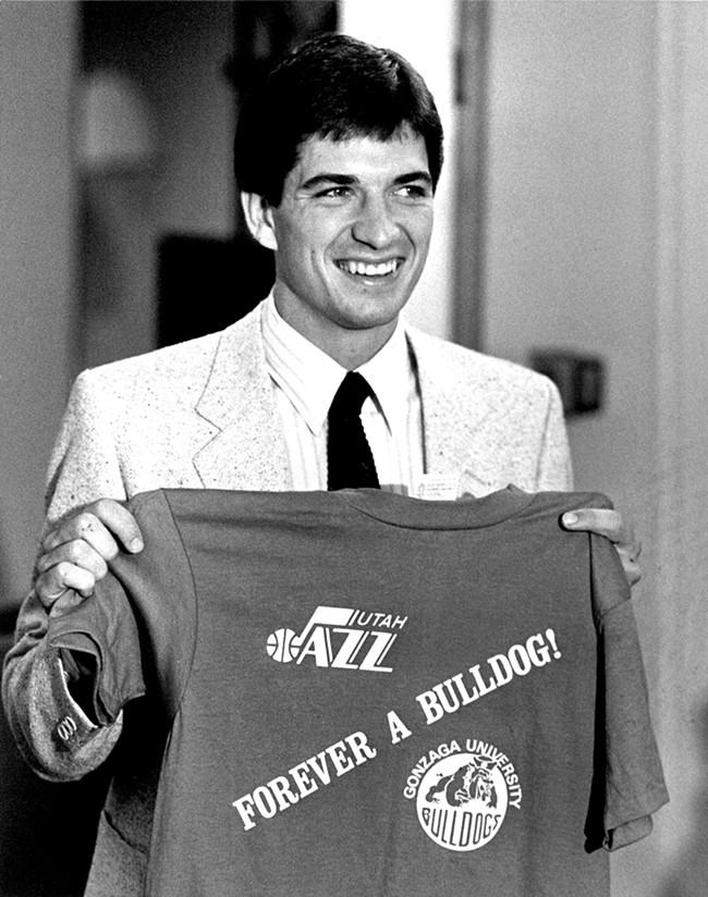 John Stockton after learning he'd been drafted by the Utah Jazz in 1984.
