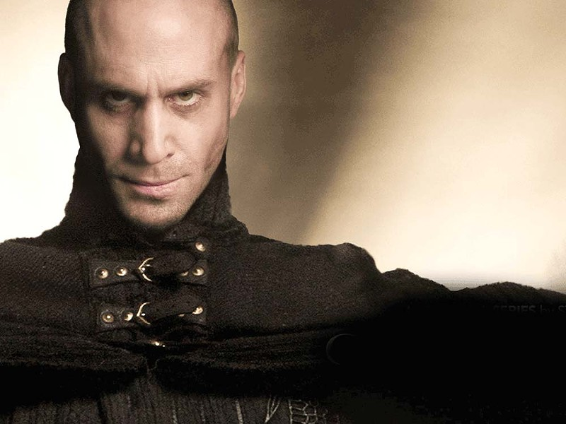 "Joseph Fiennes as Merlin: ""See this frown? It's magic. I will hurt you with my magic frown."""