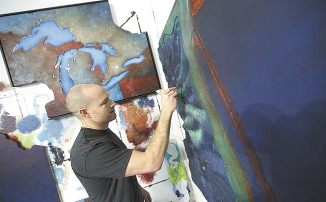 Joyce, in his studio. - YOUNG KWAK