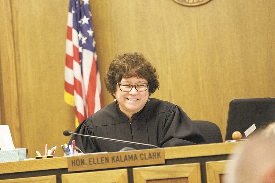 Judge Ellen Clark takes on an almost motherly role, providing encouragement and accountability for those in the Mental Health Court. - YOUNG KWAK