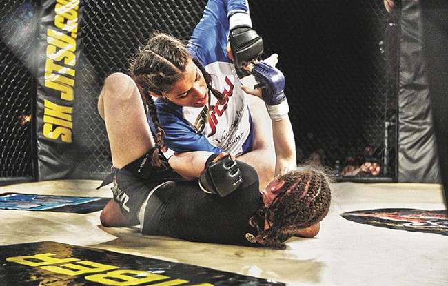 Julianna Pena fights an opponent in 2011 on her journey to the UFC. - YOUNG KWAK