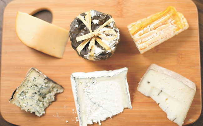 Just a half dozen of the 40-plus cheeses in stock at Patit Creek. - YOUNG KWAK