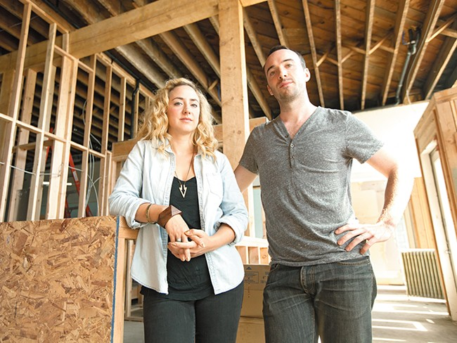 Karli and Caleb Ingersoll inside the space that will soon become the Bartlett. - YOUNG KWAK