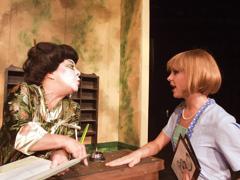 Kathie Doyle-Lipe (left) and Ashley Cooper in Thorougly Modern Millie - MIKE MCCALL