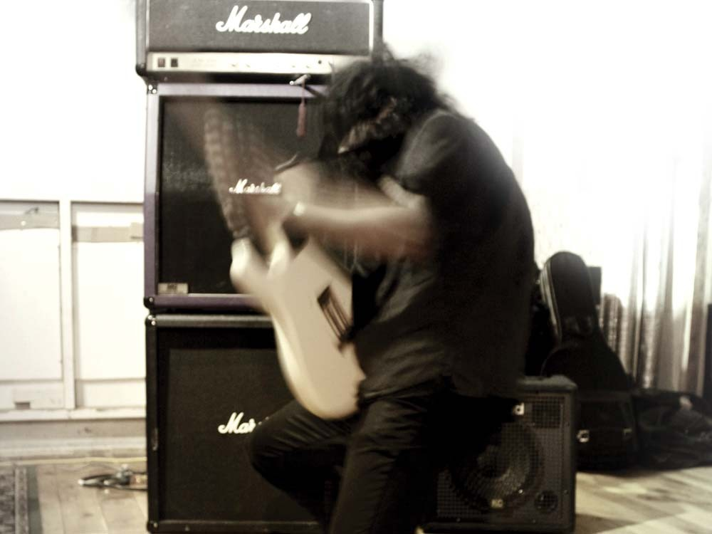 Kawabata Makoto performing with Acid Mothers Temple at Object Space in 2009. - JOSLYN CAIN