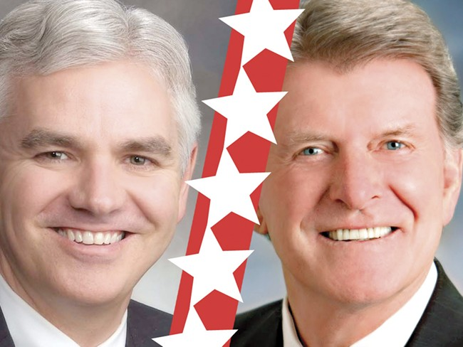 Keith Allred (left) and Butch Otter