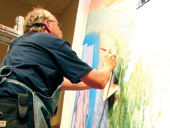 Ken Spiering at work at the Jundt - CARRIE SCOZZARO PHOTO