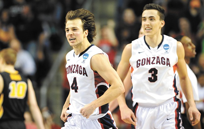 Kevin Pangos drilled four 3-pointers to help defeat Iowa. - RAJAH BOSE PHOTO
