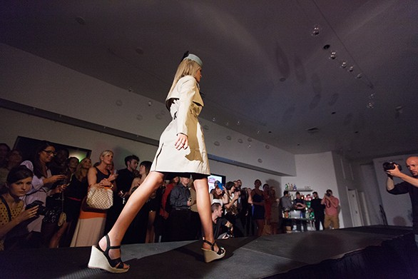 Kimberly Edwards walks the runway. - YOUNG KWAK