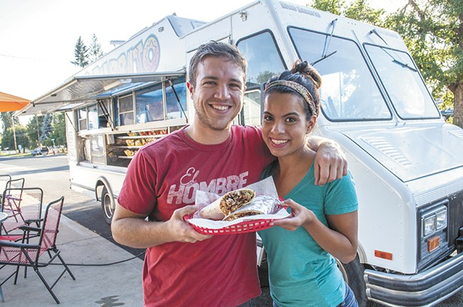 King Burrito owners Ana Silva, and her fiance Sean Campbell. - SARAH WURTZ