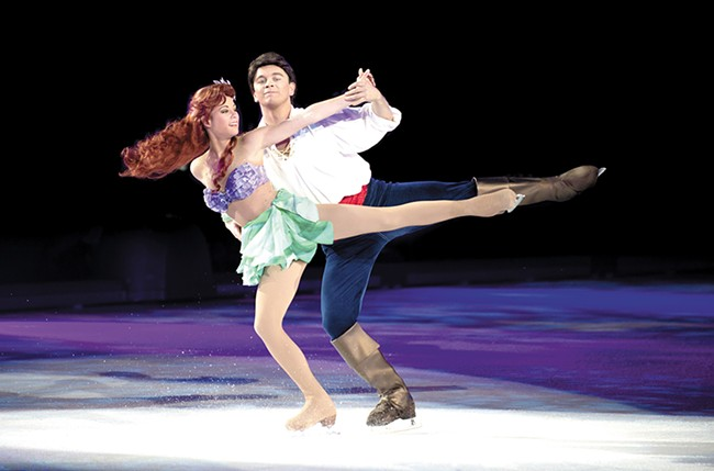 Kristin Cowan as Ariel from The Little Mermaid with Disney on Ice. - FELD ENTERTAINMENT