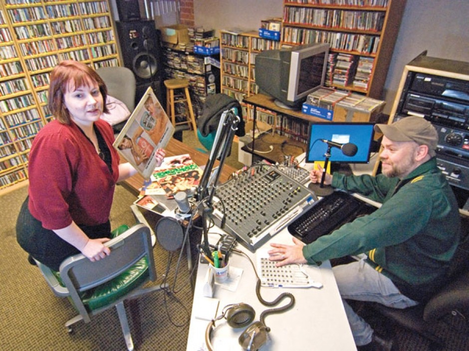 KYRS DJs Dungeon Master (Martin Faulks) and Yoko Phono (Amy Herman)