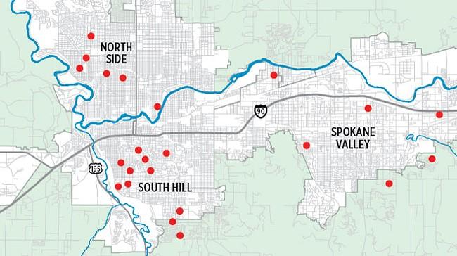 Little free libraries are scattered all over Spokane and Spokane Valley, often near parks. - LISA WAANANEN JONES