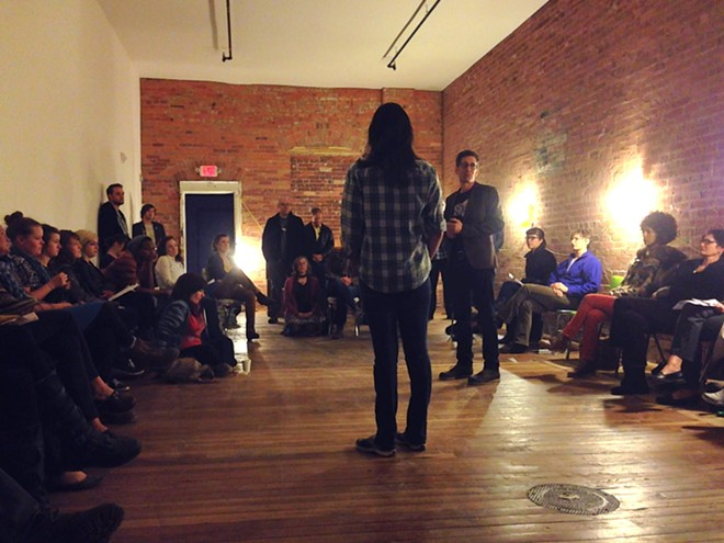 INK board members hosted an informational meeting at the space Thursday. - HEIDI GROOVER