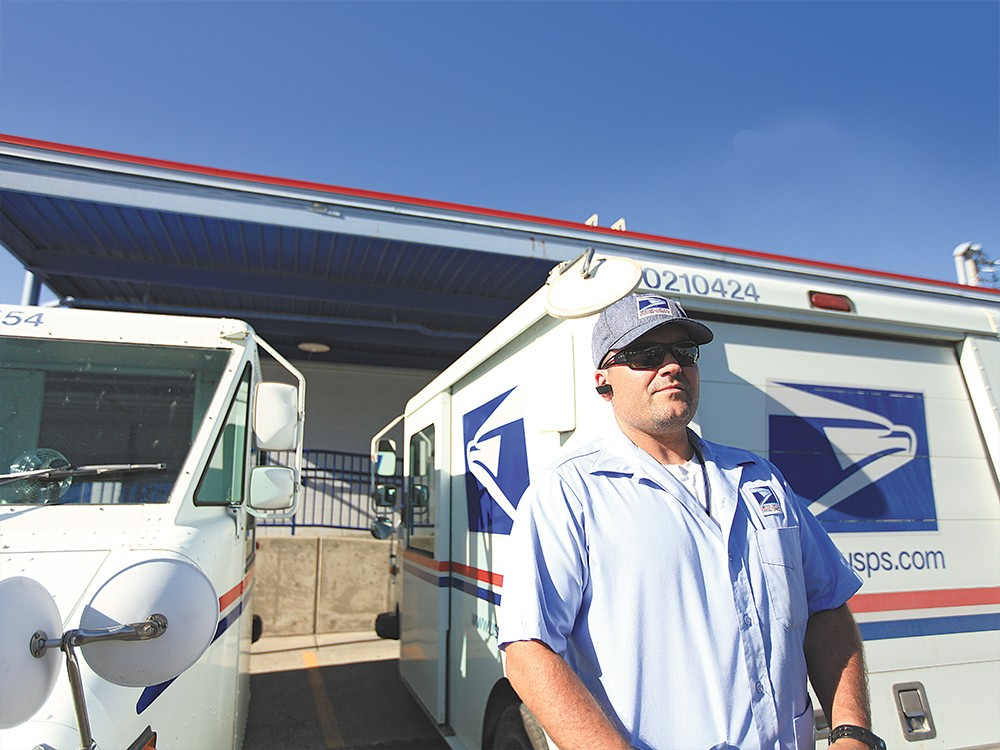 "Local letter carrier Eric Pardick: ""The risk is always there for us."""