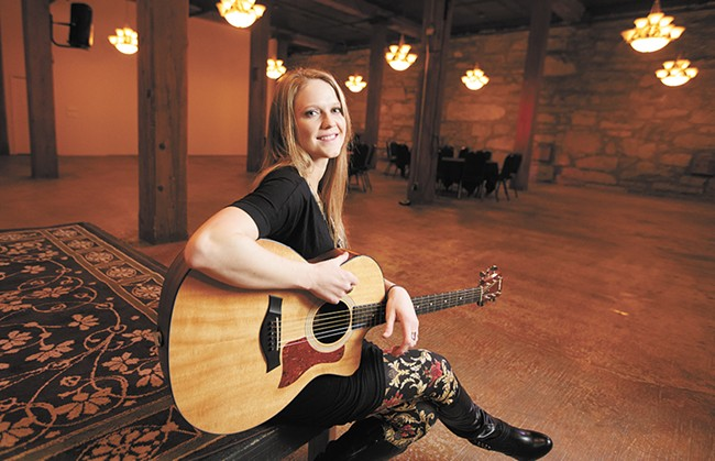 Local singer-songwriter Nicole Lewis performs at Chateau Rive Jan. 23. - YOUNG KWAK
