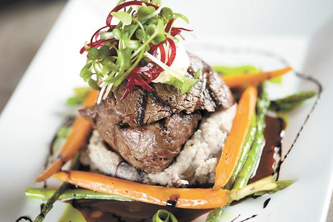 Locally sourced beef tenderloin by Chef Scott Rutter