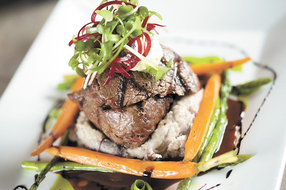 Locally sourced beef tenderloin by Chef Scott Rutter