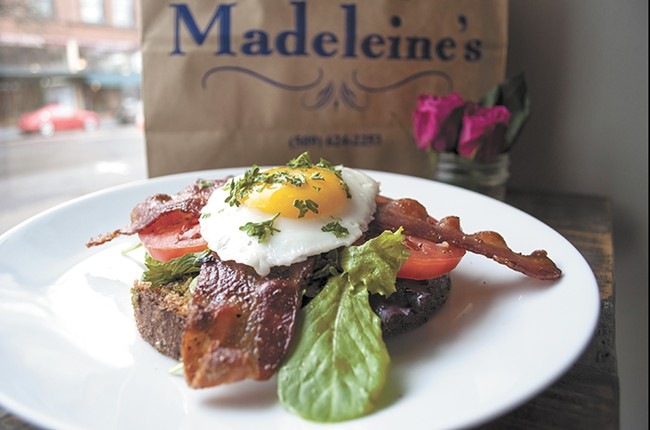 Madeleine's open-faced BLT. - SARAH WURTZ