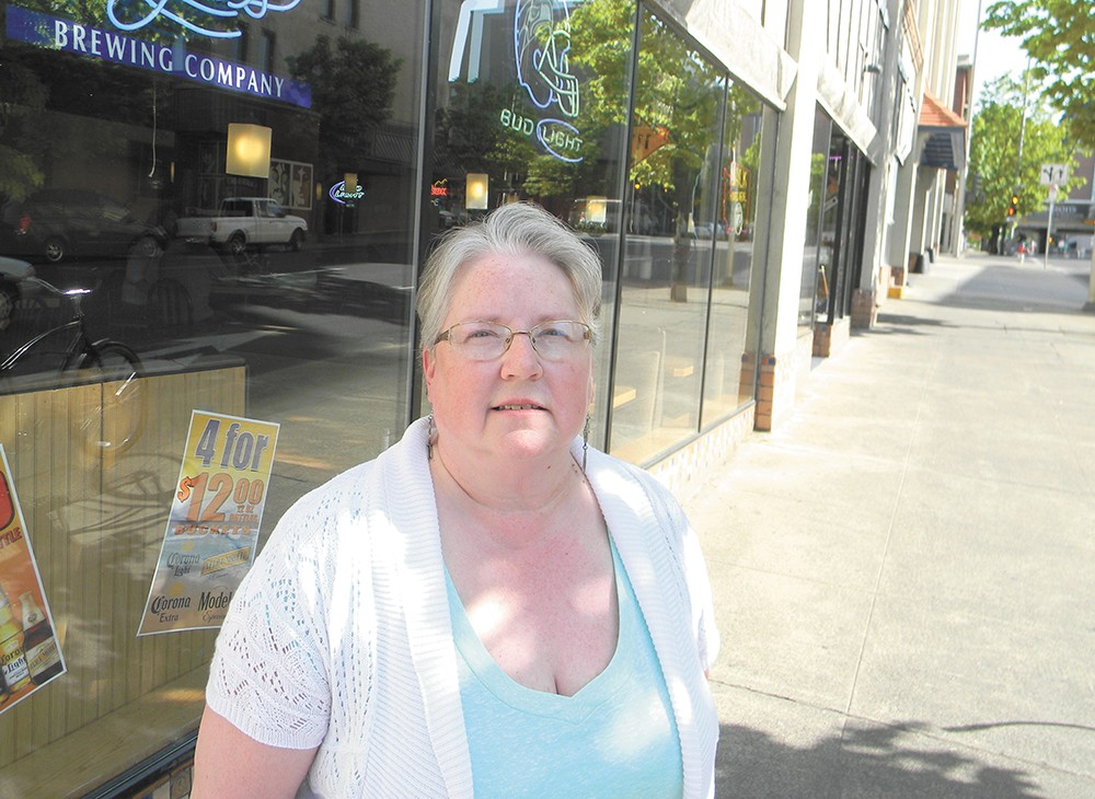Maggie Lankford, who lives in downtown Spokane, struggles to make rent each month. She's not alone. - JAKE THOMAS