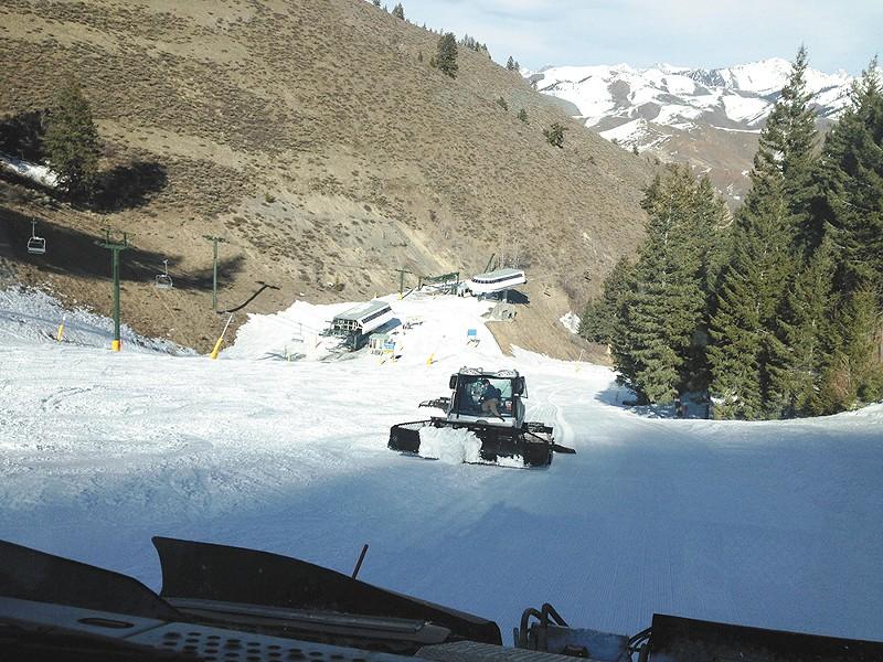 Man-made snow at Sun Valley. - JEN FORSYTH