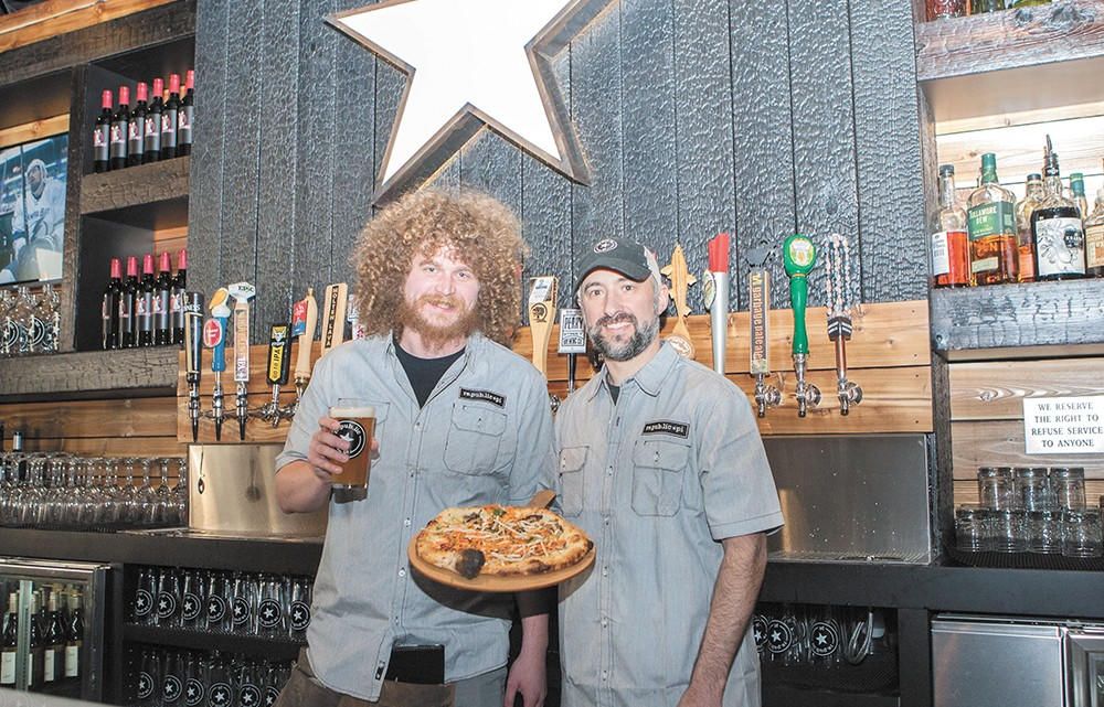 Manager Brian Carpenter (left) and co-owner/chef Darrin Gleason at the newly opened Republic Pi. - MEGHAN KIRK