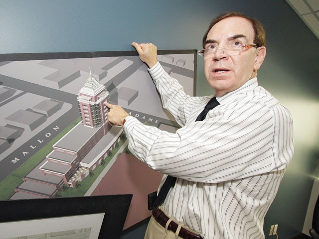 Marcus DeWood and the 15-story tower he wants to build in West Central - YOUNG KWAK