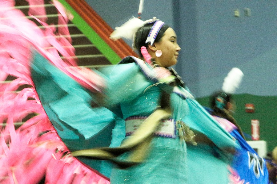 Mariah Clark, of the Coeur d'Alene Tribe, dances. - YOUNG KWAK