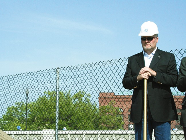 Marshall Chesrown, at the groundbreaking at Kendall Yards. - CHRIS BOVEY