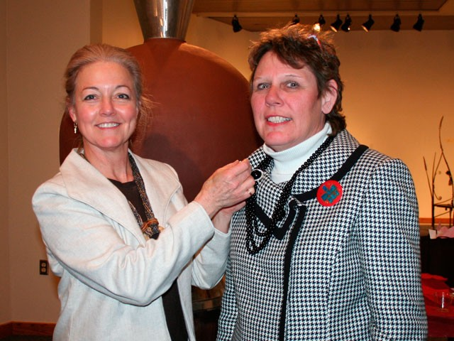 Mary Franklin (right) with Mayor Mary Verner