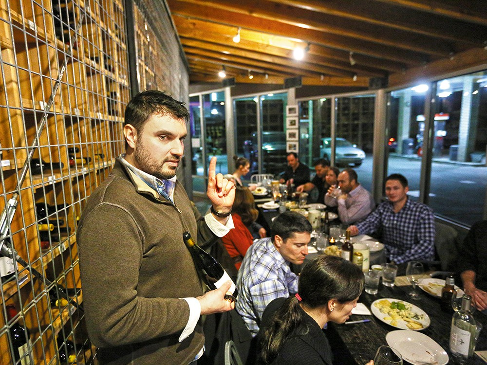Matt Dolan, the wine steward at the Rocket Market, leads ongoing wine classes. - YOUNG KWAK