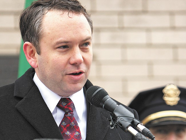 Mayor David Condon says he's saved $850,000 by eliminating  seven middle management positions in his proposed budget.