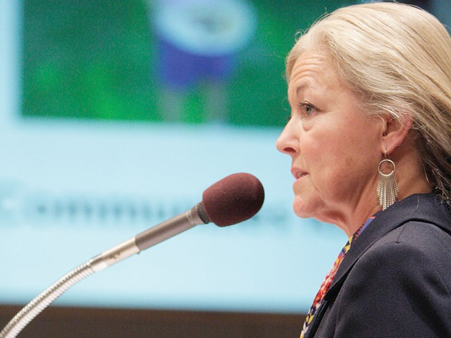 Mayor Mary Verner at her State of the City address in early October. - YOUNG KWAK