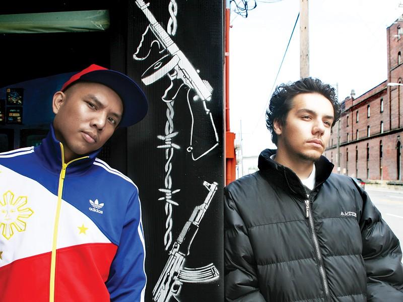 MC Geologic (left) and DJ Sabzi are Blue Scholars