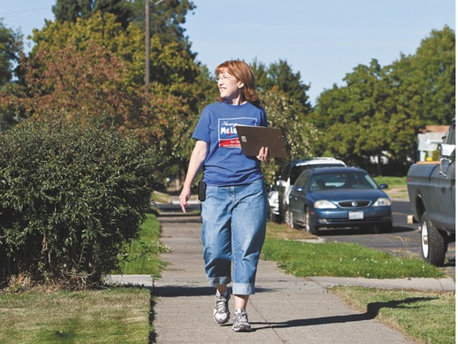 Nancy McLaughlin on the campaign trail in 2012.