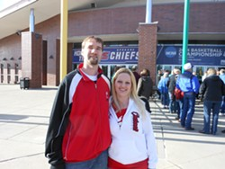David and Jill Henry battled overbooked flights to make a last-minute jaunt to Spokane to cheer on Cincinnati.