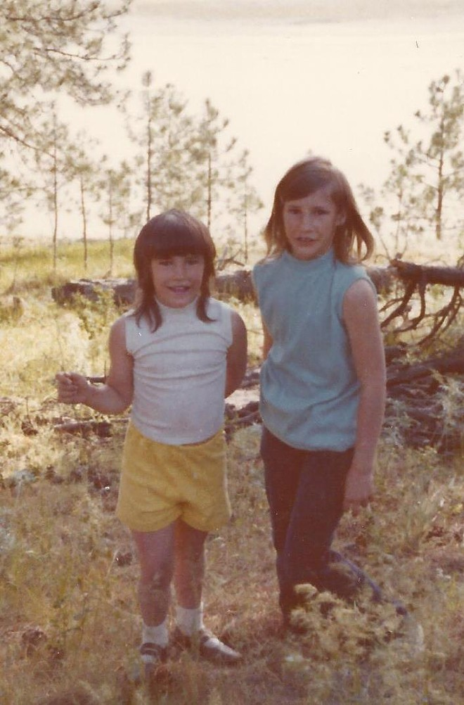 Meier and her sister Denise as children. - PROVIDED BY STEPHANIE RENEE MEIER'S FAMILY
